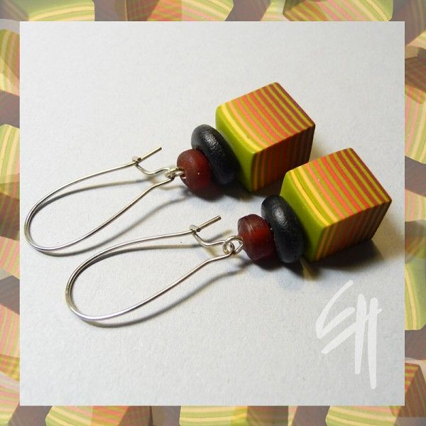 EH Multidesign polymer clay earrings