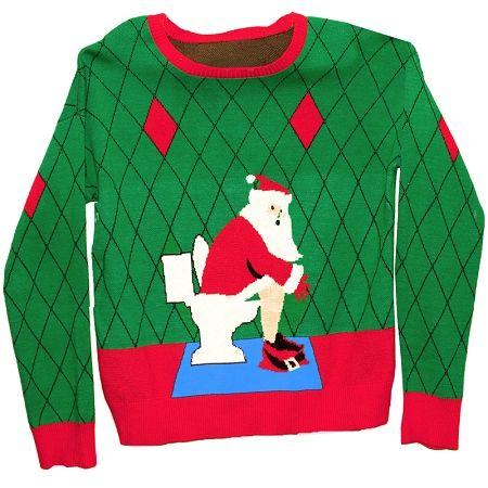Un bon pull de Noël ça pique les yeux jusque-là on est d'accord. mais quitte à faire mal aux rétines pourquoi ne pas le faire avec humour. En ces temps de fêtes, et de ripaille, autant vous dire que l