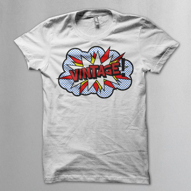 Vintage boom (pop art style) t shirt -  Vintageness Collection - Vintage t shirts  www.vintage.it