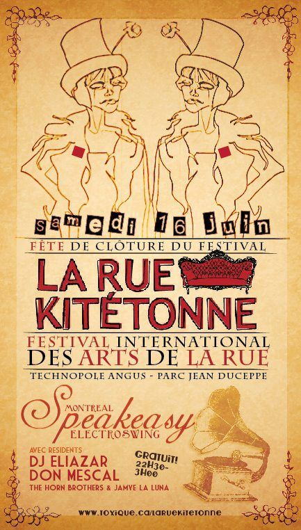Speakeasy # 9 - Saturday 16 June @Grace Nelson La rue Kitétonne
