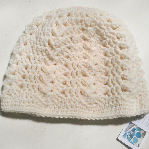 Chunky Shell Crochet Ladies/Teen Soft Beanie by ApplegumHandmade