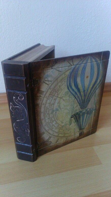 Decoupage book box