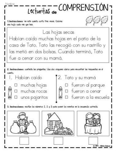LECTURITAS INFANTILES Y CUENTITOS para trabajar la comprensión lectora Os dejamos estas fantásticas actividades para trabajar la comprensión lectora de los más pequeños. Este archivo está compuesto de lecturas cortas diferenciadas de comprensión para...