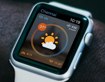 """Check out new work on my @Behance portfolio: """"Daily UI 37 - Weather"""" http://be.net/gallery/46586803/Daily-UI-37-Weather"""