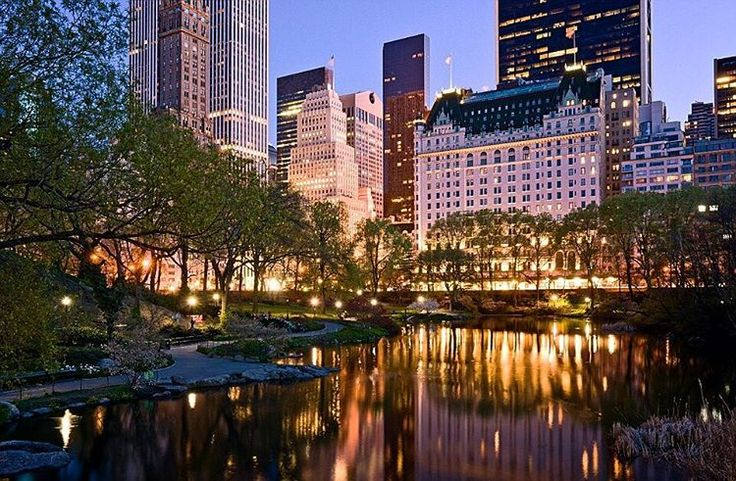 The Plaza Hotel from Gapstow Bridge in Central Park by newyorkcityfeelings.com - The Best Photos and Videos of New York City including the Statue of Liberty Brooklyn Bridge Central Park Empire State Building Chrysler Building and other popular New York places and attractions.