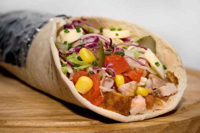 Durum kebab  .....carne de pollo y ternera...