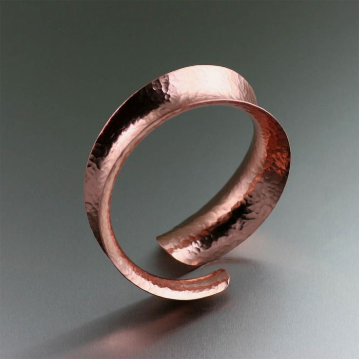 Anticlastic Hammered Copper Bangle Bracelet (With Images