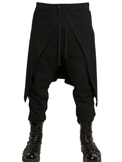 GARETH PUGH - CUFFS ZIPPED COTTON WOOL FLEECE PANELLED - LUISAVIAROMA - LUXURY SHOPPING WORLDWIDE SHIPPING - FLORENCE