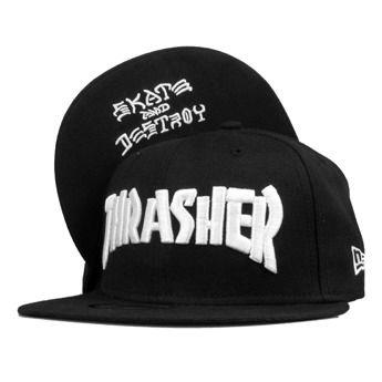 Thrasher Skate And Destroy New Era Cap Black White on BUYFITS