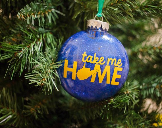Take Me Home West Virginia Ornament by HandmadeEscapade on Etsy