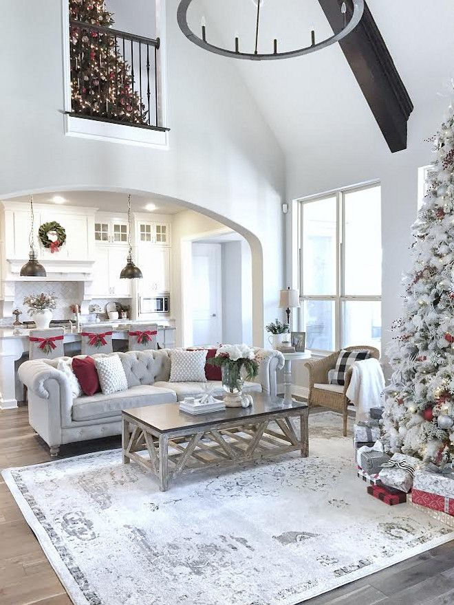 open kitchen living room floor plan pictures%0A A wonderfully white Christmas kitchen