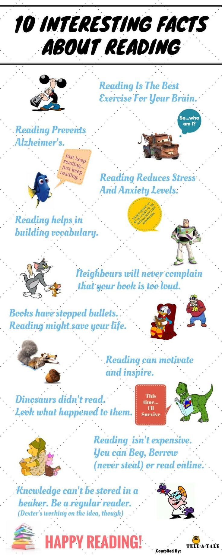 10 interesting facts about reading (infographic) FRIENDLY STAFF PUBLISHED ON JUN 16, 2016