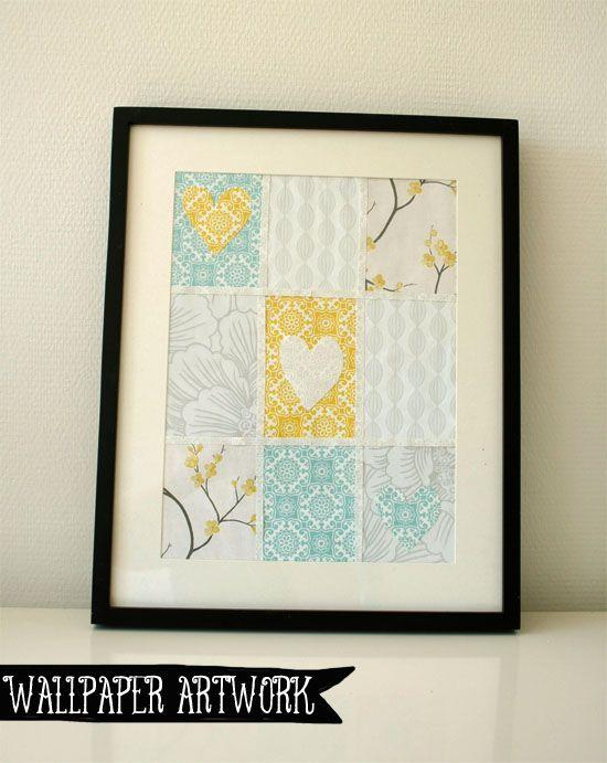 DIY - Create artwork with free wallpaper samples!