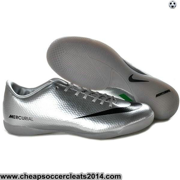 Nike Mercurial Vapor IX IC Indoor Shoes Silver Black Green Cheap Discount Soccer Cleats