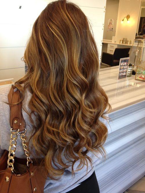 caramel highlights on light brown hair