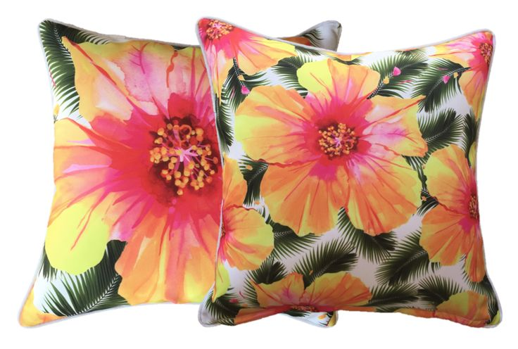 #SneakPeek at our NEW #DesignerCushion #Hibiscus White - available from July 2015 #online or #wholesale - www.beachabodeliving.com.au