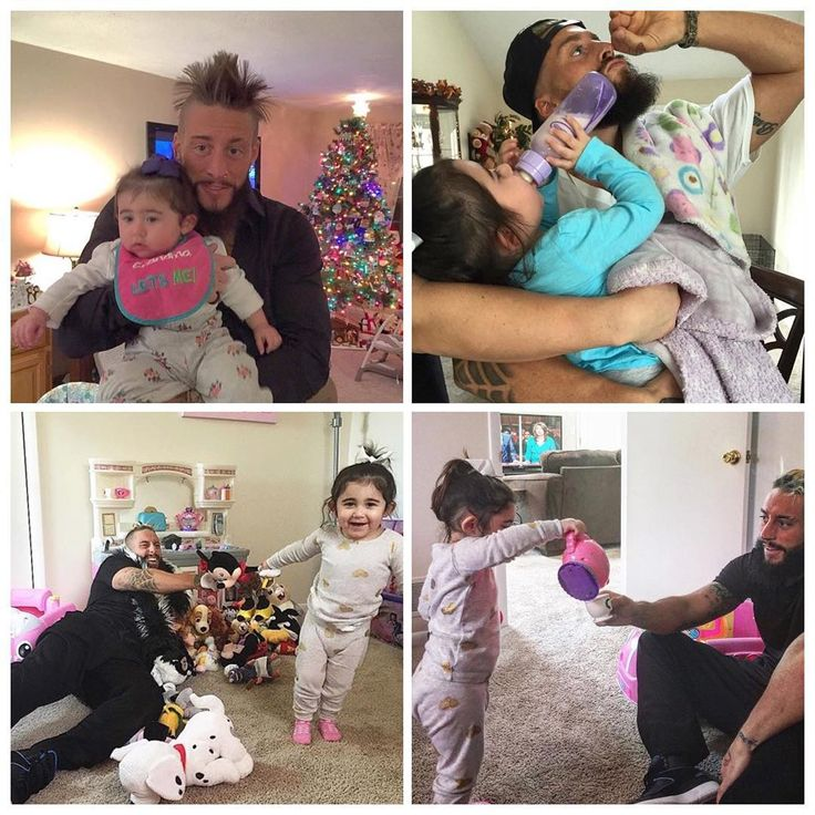 Enzo Amore and his little godaughter omg this is so cute!! nothing cuter than this!!!