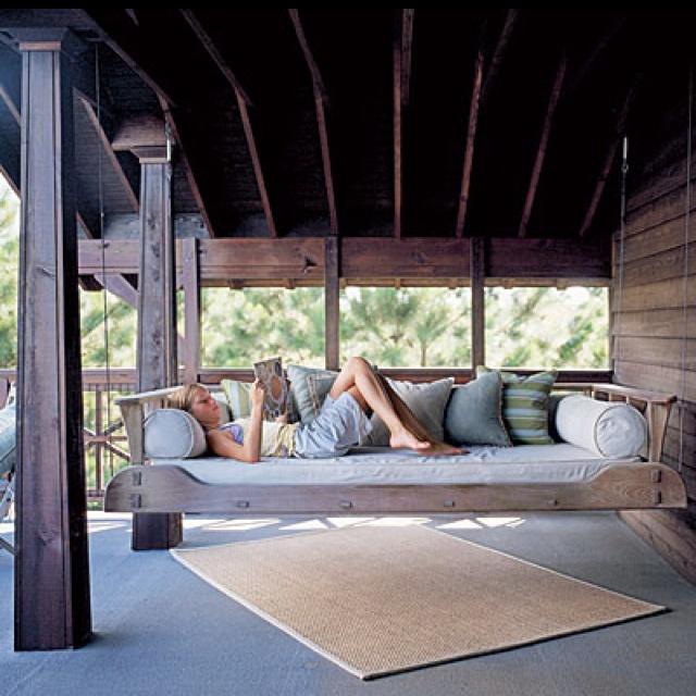 Porch swing bed House Stuff Pinterest