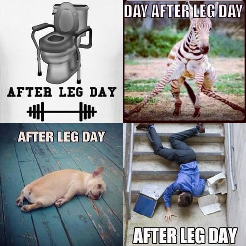 After leg day at the gym