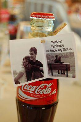 So cute Coca Cola wedding favor idea! #ShareaCokeContest