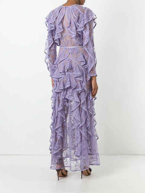 Elie Saab кружевное платье с оборками