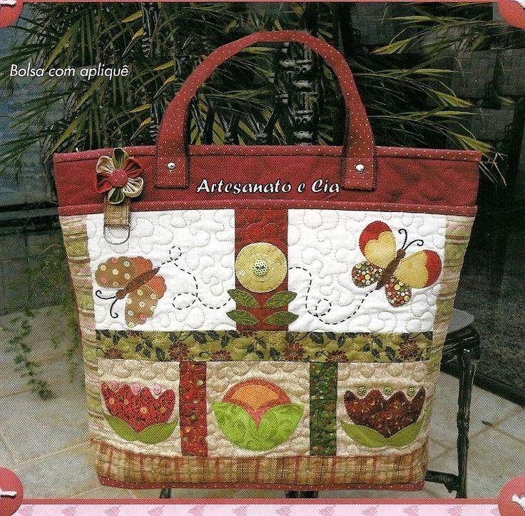 Bolsa Em Tecido Patchwork Passo A Passo : Artesanato e cia bolsa em patchwork quilt passo a