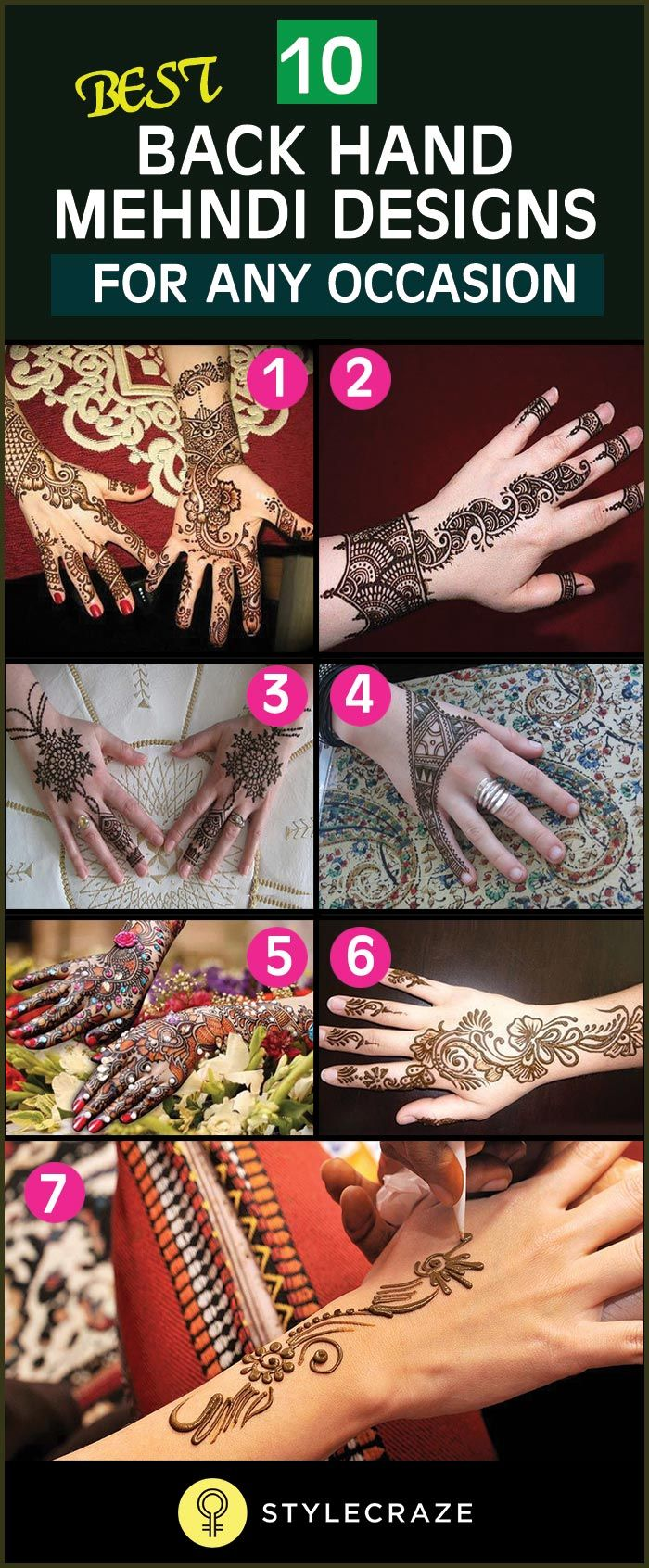 Pin mehndi and bangles display pics awesome dp wallpaper on pinterest - 10 Best Back Hand Mehndi Designs For Any Occasion