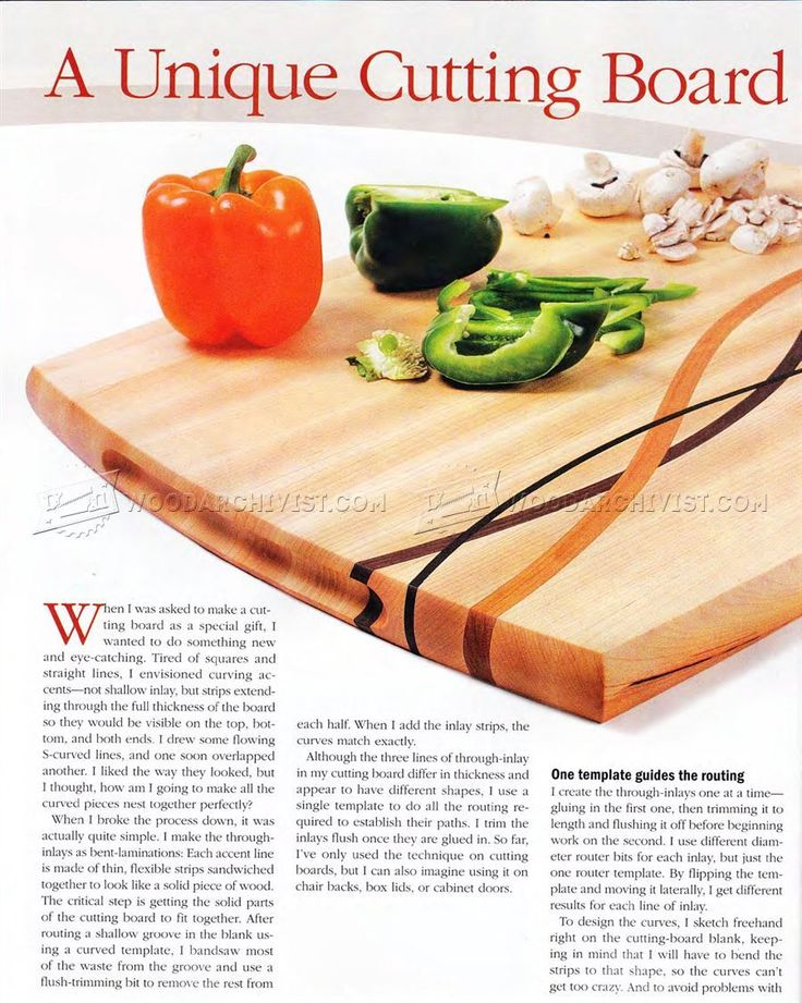 Cutting Board Plans - Woodworking Plans