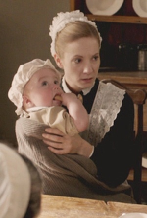 Anna holding the baby