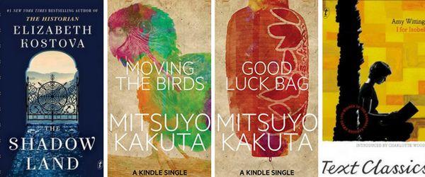 Booklover Mailbox - The Shadow Land, Moving the Birds, Good Luck Bag, I for Isobel - Elizabeth Kostova, Mitsuyo Kakuta, Amy Witting