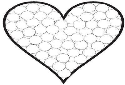 Corazón para rellenar con gomets | Manualidades de una maestra en prácticas