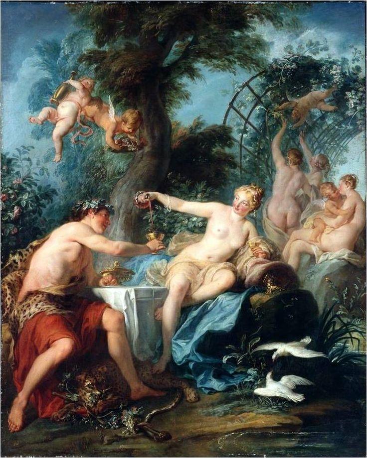 Alliance between Bacchus and Venus, Noël Nicolas Coypel