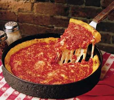 Chicago-Style Deep Dish Uno's Pizza