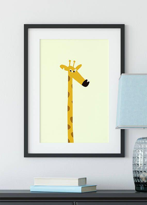 Cute giraffeNursery poster Animal print Child poster