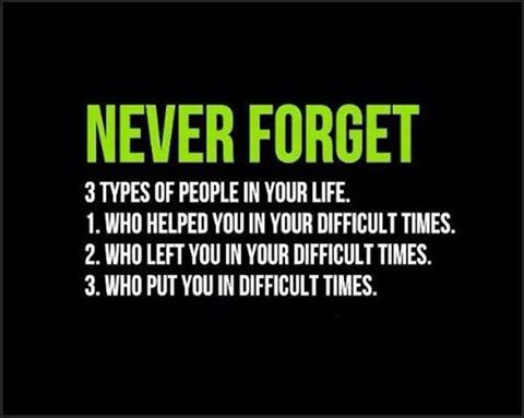 3 People never to forget