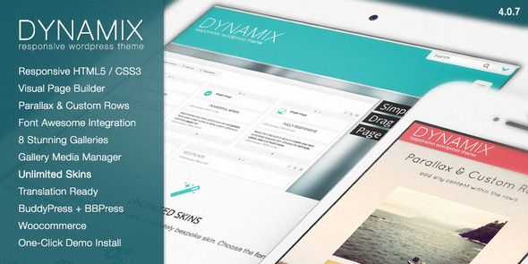 DynamiX - Perfect WordPress Theme for Business / Corporate Purpose