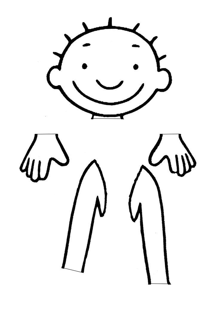 Kleurplaat Over Het Lichaam Puzzel Jules Hoofd Handen Armen A3 Formaat Dit Ben