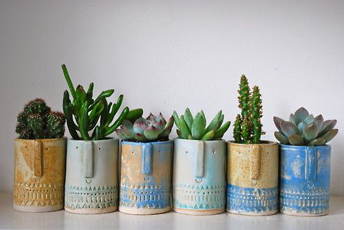 Atelier Stella. Little succulent pots.  I have a few small pieces of work for sale here www.etsy.com/shop/AtelierStellaLondon and more to follow in the coming weeks.