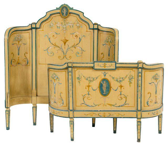 Early-20th-C. Italian Bed, Twin