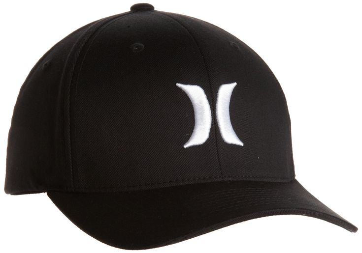 Hurley Cap One & Only Black Flexfit - Gorra de náutica, color blanco, talla M