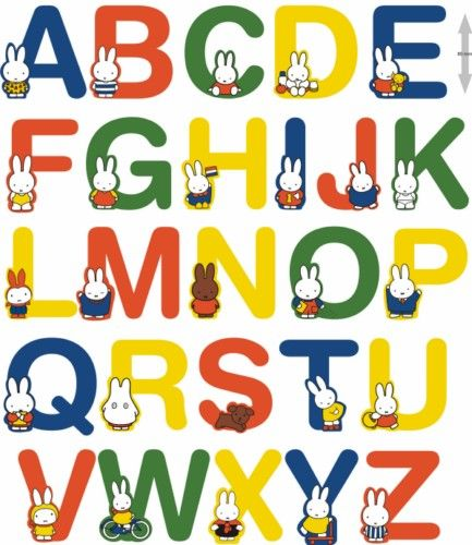 Miffy Wooden Letters