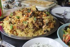 """A traditional Palestinian feast on a plate… The flavours and aroma of this dishare beyond incredible. 'Maklouba' is the Arabic word for """"upside down,"""" a Palestinian upside down dish of lamb, eggplants and rice. A large pot is layered with lamb that is covered with eggplants then the rice comes on top. After all is …"""