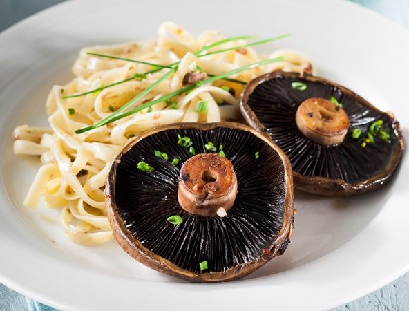 From the YOU kitchen: Mushroom 'steaks' with pasta
