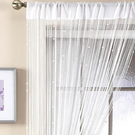 Dunelm White Beaded String Curtain