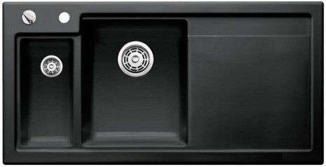 Axon 6S II Blanco ceramika PuraPlus zlewozmywak   deska do krojenia 510X1000 lewy czarny - 516555  www.hansloren.pl