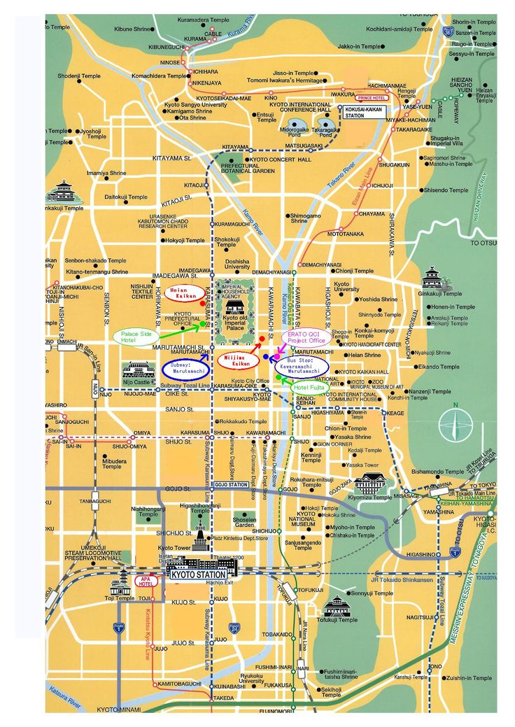 Kyoto attractions map