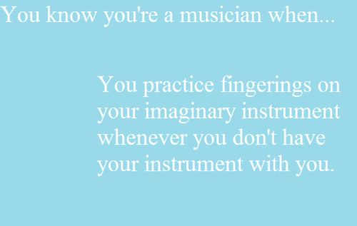 I do this all the time but I tap my fingers on my desk in school. It's probably pretty annoying to others but I don't really careXD