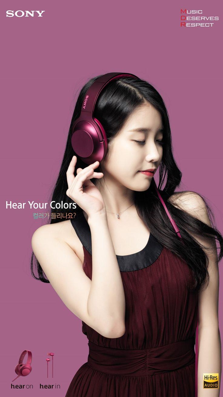 WALLPAPERS] 151010 #IU for #Sony MDR h.ear series headphones ...
