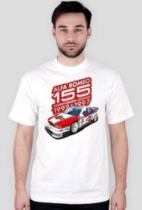 Alfa Romeo 155 Tourenwagen-Legende 1992-1997 (koszulka męska)