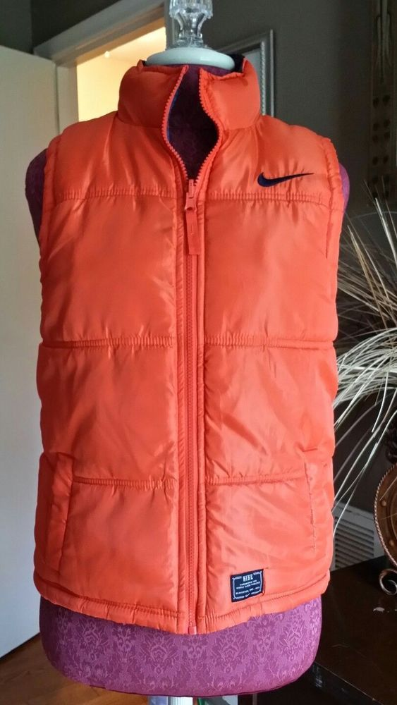 b92981ebcd03 100% AUTHENTIC-ONE OF A KIND-NIKE REVERSIBLE PUFFER VEST SIZE M 10-12Y  Nike   Vest  EverydayHoliday